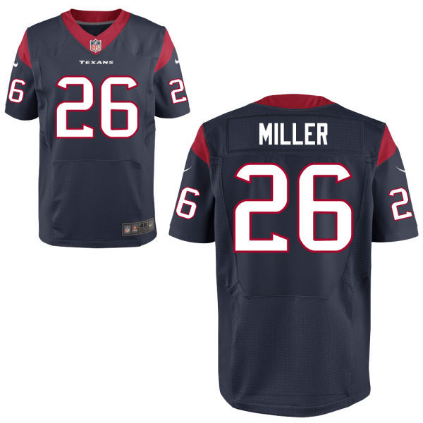 2016 Houston Texans 26 MILLER blue Nike Elite Jerseys