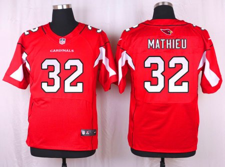 Customized Arizona Cardinals 32 Mathieu Red 2016 Nike Elite Jersey