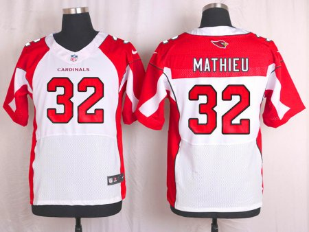 Customized Arizona Cardinals 32 Mathieu white 2016 Nike Elite Jersey