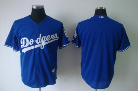 Customized MLB Los Angeles Dodgers Blank blue jerseys