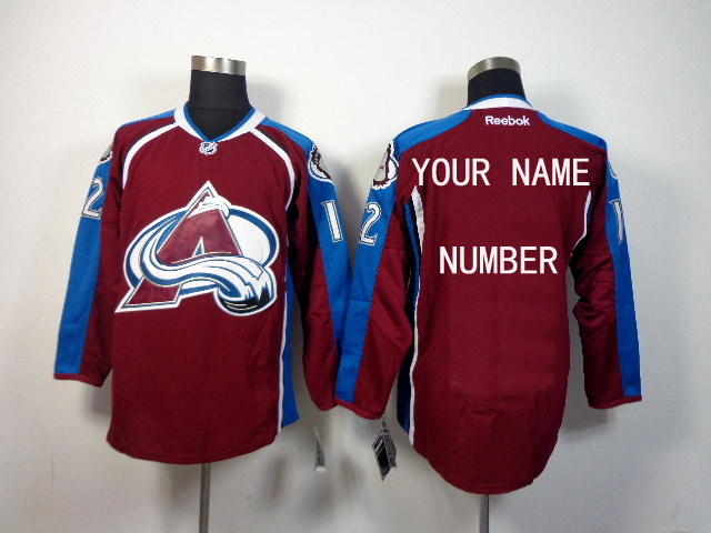 NHL Colorado Avalanche Customized red Jersey