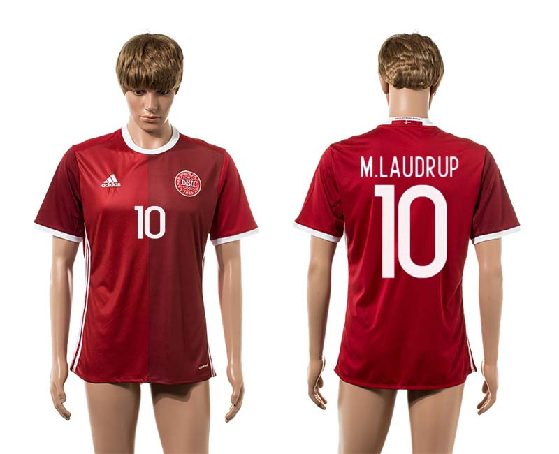 2016-2017 Denmark home 10 M.Laudrup red AAA+ soccer jerseys