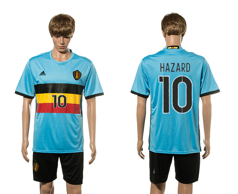 European Cup 2016 Belgium away 10 Hazard soccer jerseys