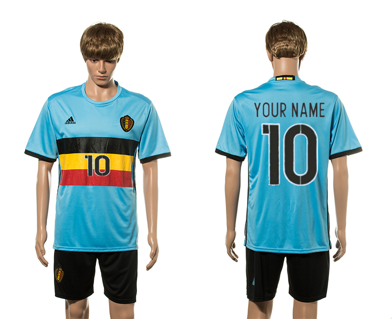 European Cup 2016 Belgium away 10 customized soccer jerseys