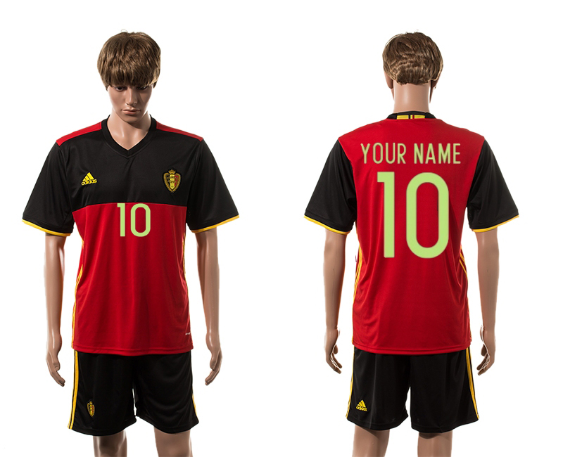 European Cup 2016 Belgium home 10 customized red soccer jerseys