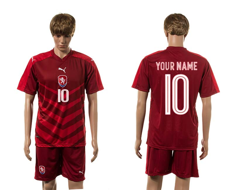 European Cup 2016 Czech Republic home 10 customized red soccer jerseys