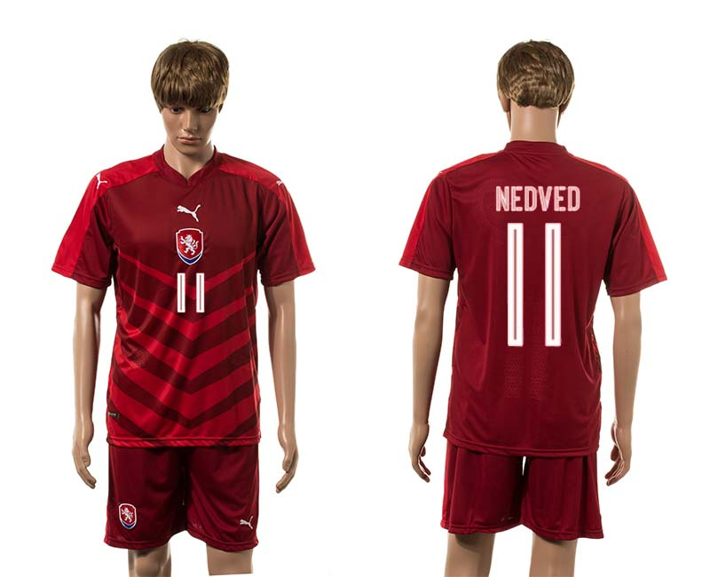 European Cup 2016 Czech Republic home 11 Nedved red soccer jerseys