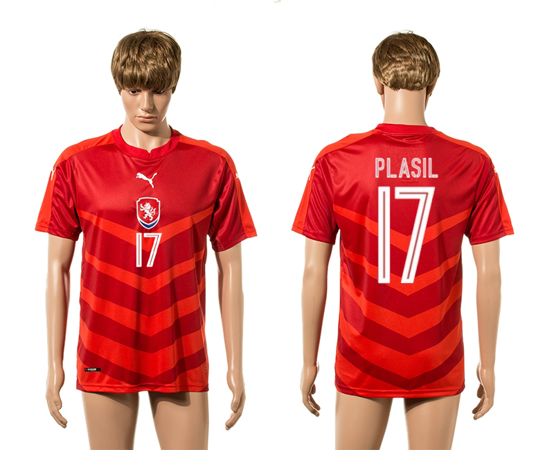European Cup 2016 Czech Republic home 17 Plasil red AAA+ soccer jerseys