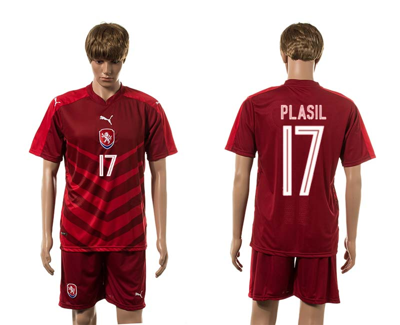 European Cup 2016 Czech Republic home 17 Plasil red soccer jerseys