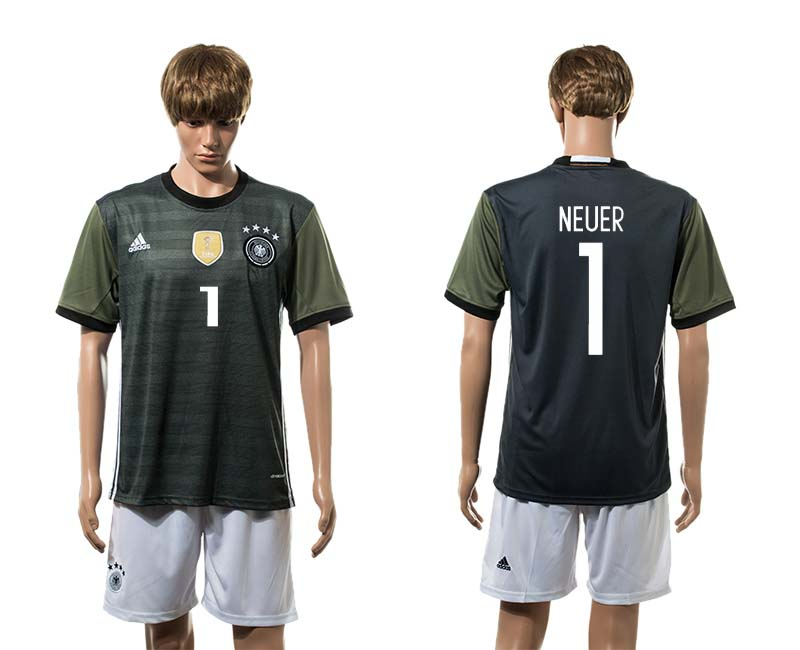 European Cup 2016 Germany away 1 Neuer soccer jerseys