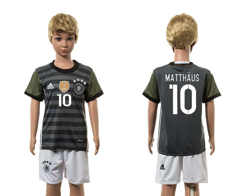 European Cup 2016 Germany away 10 Matthaus grey kids soccer jerseys