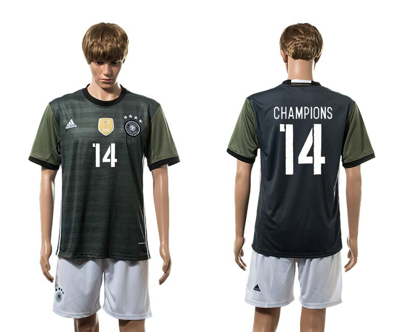 European Cup 2016 Germany away 14 Champions soccer jerseys