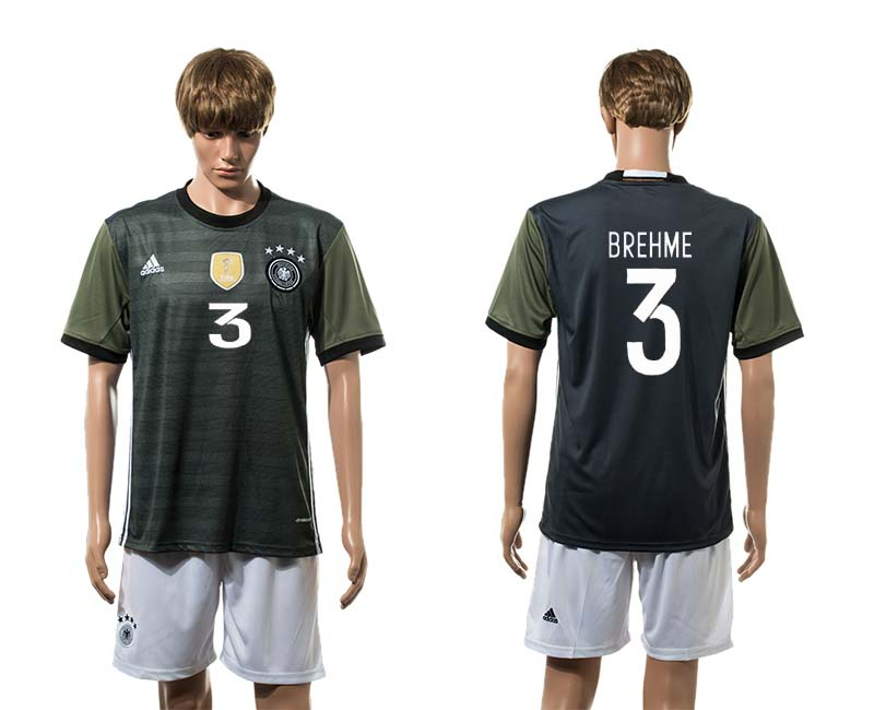 European Cup 2016 Germany away 3 Brehme soccer jerseys
