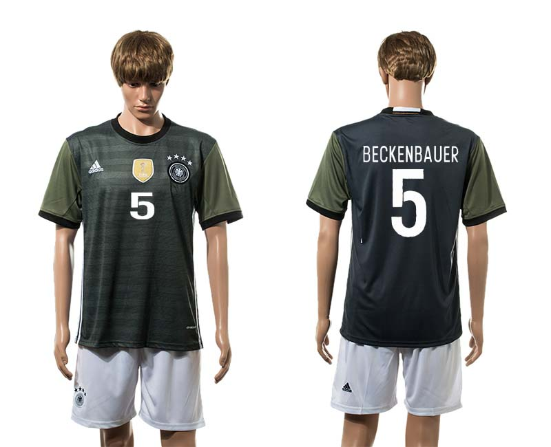 European Cup 2016 Germany away 5 Beckenbauer soccer jerseys