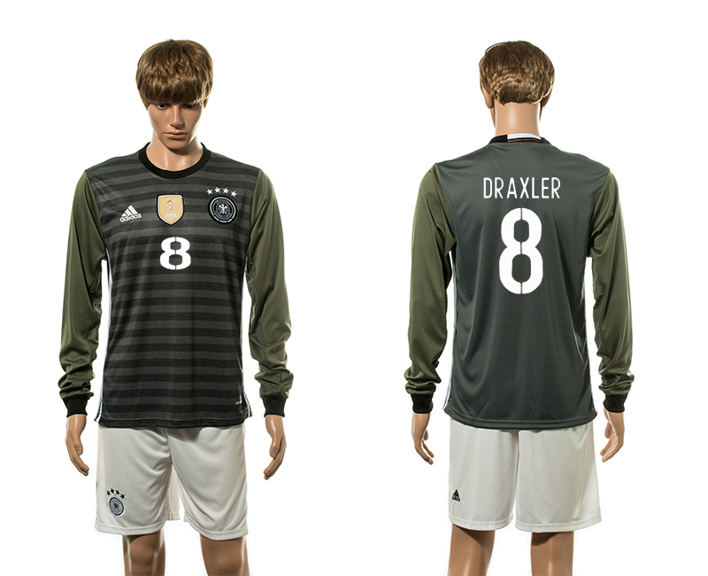 European Cup 2016 Germany away long sleeve 8 soccer jerseys