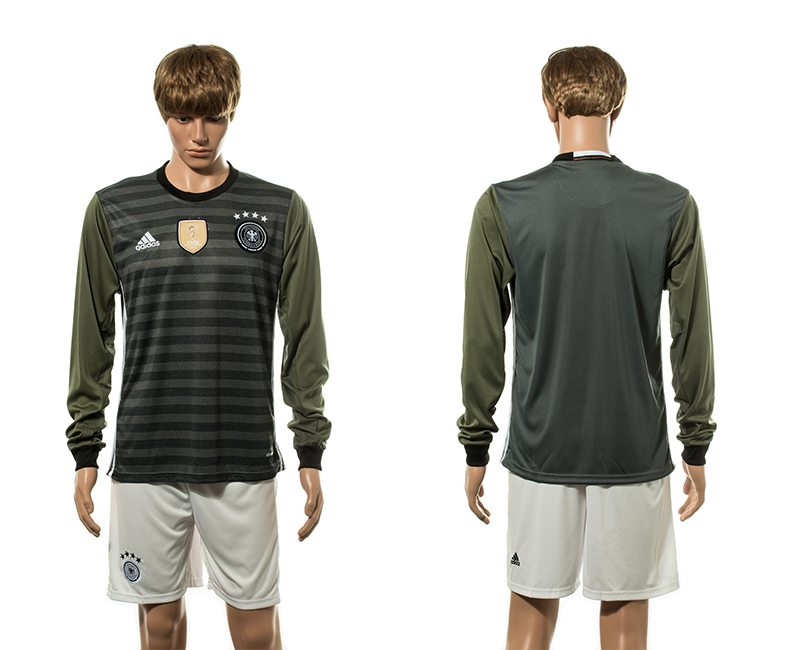 European Cup 2016 Germany away long sleeve soccer jerseys