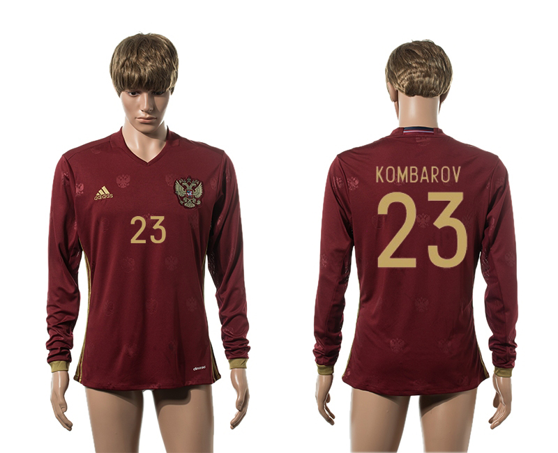 European Cup 2016 Germany home 23 Kombarov red long sleeve AAA+ soccer jerseys
