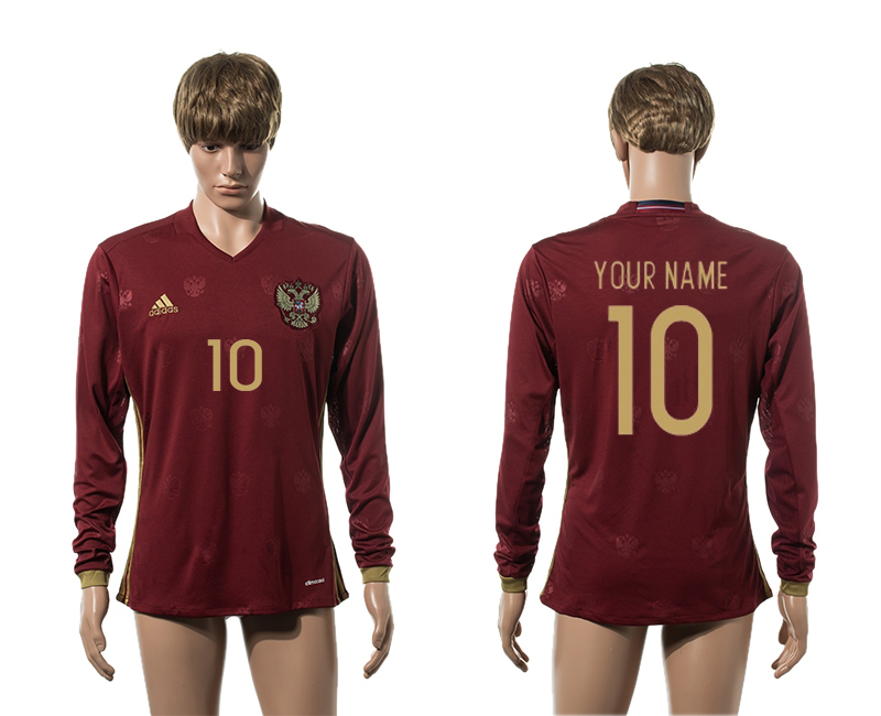 European Cup 2016 Germany home 10 customized red long sleeve AAA+ soccer jerseys