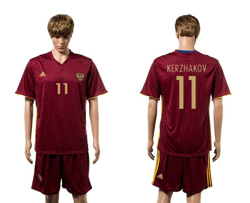 European Cup 2016 Germany home 11 Kerzhakov red soccer jerseys