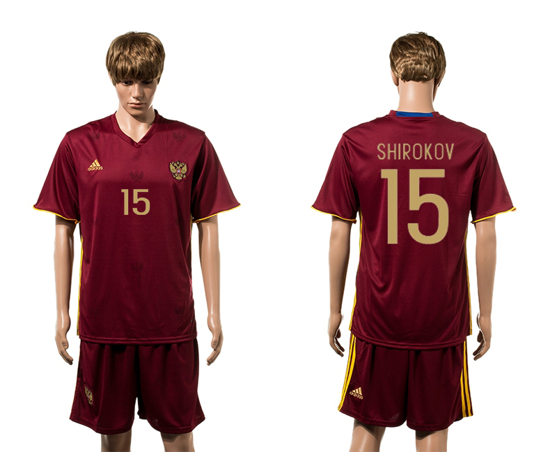 European Cup 2016 Germany home 15 Shirokov red soccer jerseys