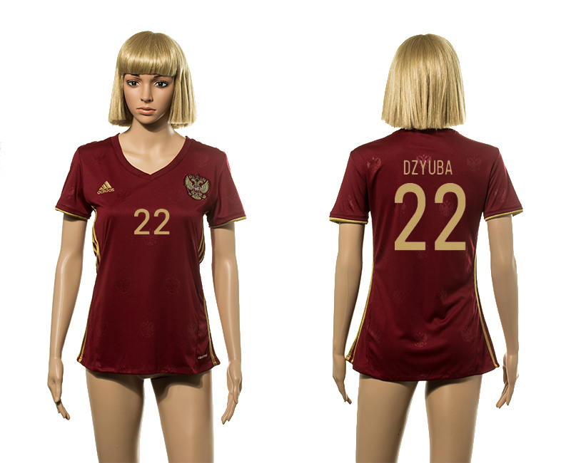 European Cup 2016 Germany home 22 Dzyuba red Women socer jerseys