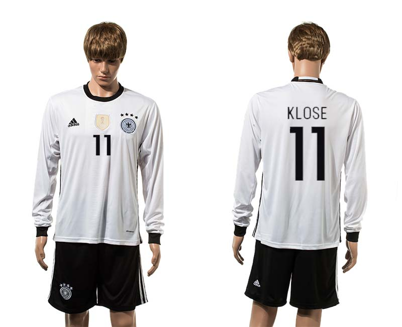 European Cup 2016 Germany home long sleeve 11 soccer jerseys