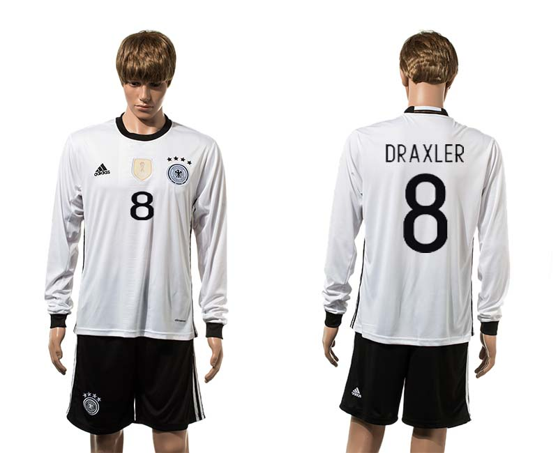 European Cup 2016 Germany home long sleeve 8 soccer jerseys