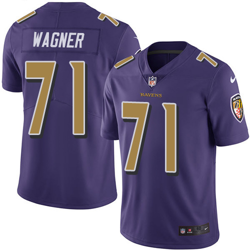 2016 Nike Baltimore Ravens 71 Ricky Wagner Purple Mens Stitched NFL Limited Rush Jersey