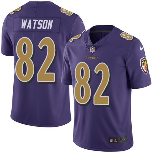 2016 Nike Baltimore Ravens 82 Benjamin Watson Purple Mens Stitched NFL Limited Rush Jersey