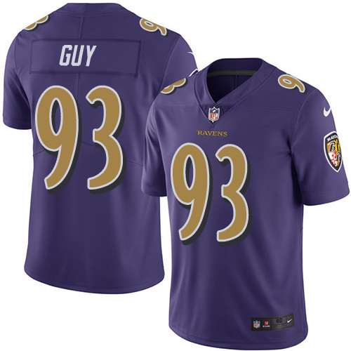 2016 Nike Baltimore Ravens 93 Lawrence Guy Purple Mens Stitched NFL Limited Rush Jersey