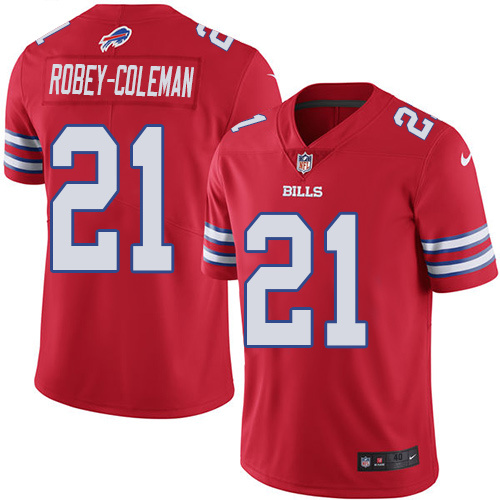 2016 Nike Buffalo Bills 21 Nickell Robey-Coleman Red Mens Stitched NFL Limited Rush Jersey