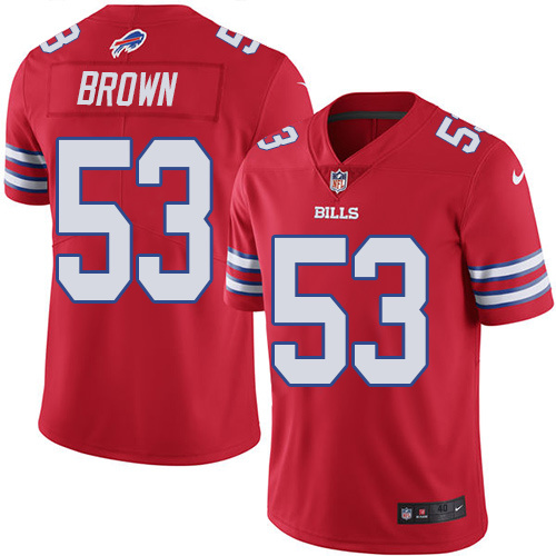 2016 Nike Buffalo Bills 53 Zach Brown Red Mens Stitched NFL Limited Rush Jersey