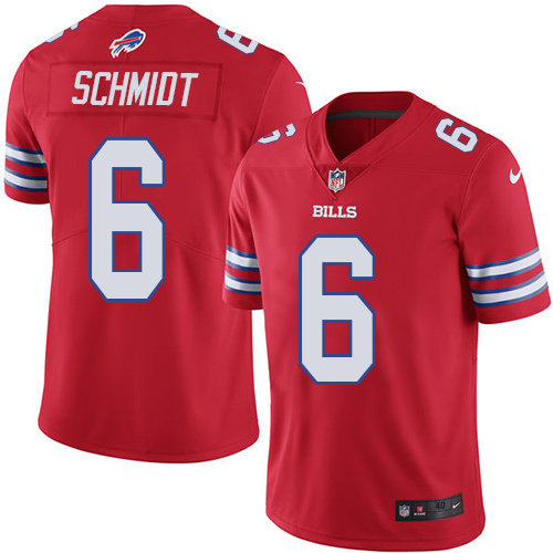 2016 Nike Buffalo Bills 6 Colton Schmidt Red Mens Stitched NFL Limited Rush Jersey
