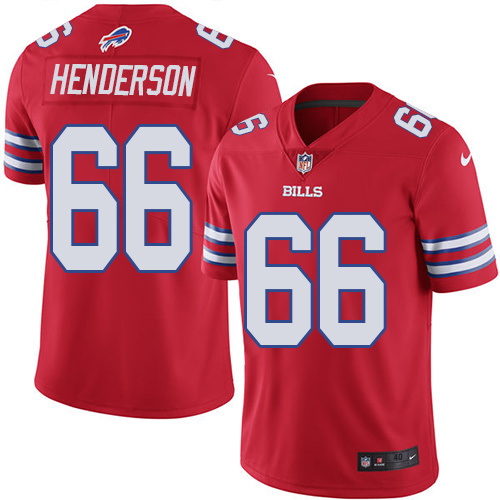 2016 Nike Buffalo Bills 66 Seantrel Henderson Red Mens Stitched NFL Limited Rush Jersey
