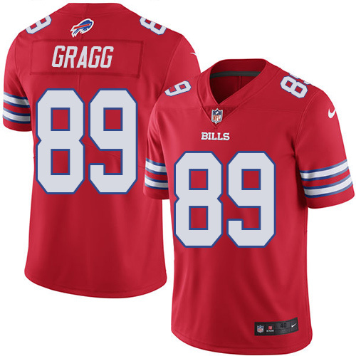 2016 Nike Buffalo Bills 89 Chris Gragg Red Mens Stitched NFL Limited Rush Jersey