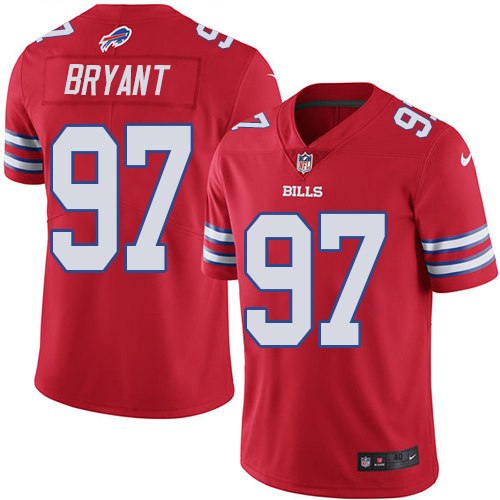 2016 Nike Buffalo Bills 97 Corbin Bryant Red Mens Stitched NFL Limited Rush Jersey
