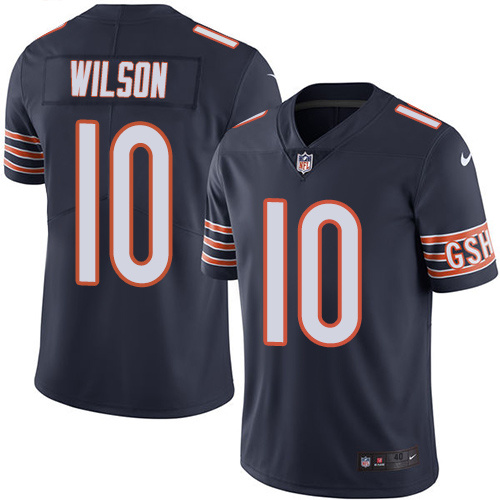 2016 Nike Chicago Bears 10 Marquess Wilson Navy Blue Mens Stitched NFL Limited Rush Jersey