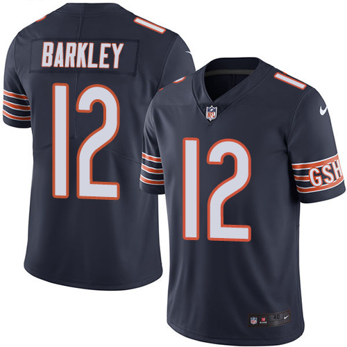 2016 Nike Chicago Bears 12 Matt Barkley Navy Blue Mens Stitched NFL Limited Rush Jersey