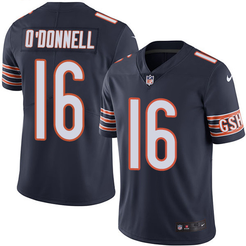 2016 Nike Chicago Bears 16 Pat O'Donnell Navy Blue Mens Stitched NFL Limited Rush Jersey