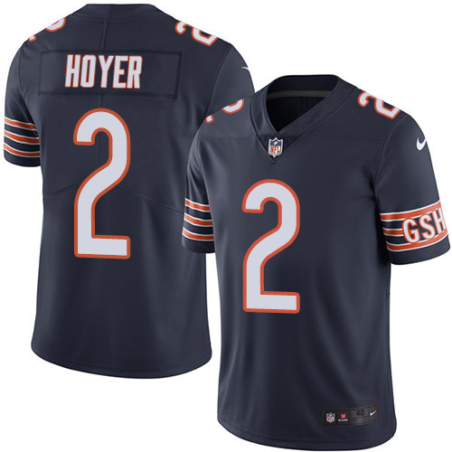 2016 Nike Chicago Bears 2 Brian Hoyer Navy Blue Mens Stitched NFL Limited Rush Jersey