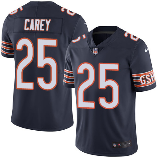 2016 Nike Chicago Bears 25 Ka'Deem Carey Navy Blue Mens Stitched NFL Limited Rush Jersey