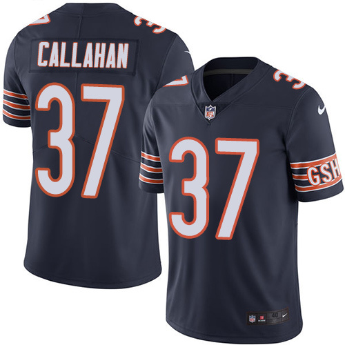 2016 Nike Chicago Bears 37 Bryce Callahan Navy Blue Mens Stitched NFL Limited Rush Jersey