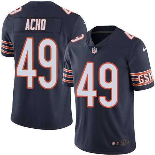 2016 Nike Chicago Bears 49 Sam Acho Navy Blue Mens Stitched NFL Limited Rush Jersey