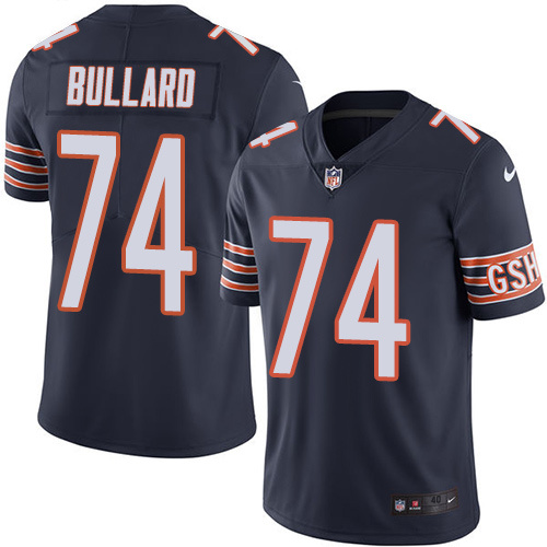 2016 Nike Chicago Bears 74 Jonathan Bullard Navy Blue Mens Stitched NFL Limited Rush Jersey