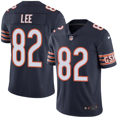 2016 Nike Chicago Bears 82 Khari Lee Navy Blue Mens Stitched NFL Limited Rush Jersey