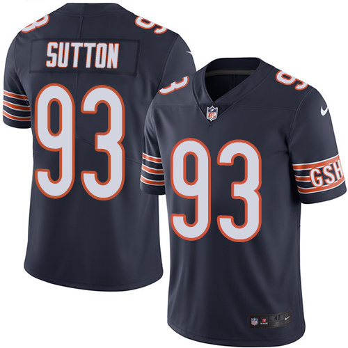 2016 Nike Chicago Bears 93 Will Sutton Navy Blue Mens Stitched NFL Limited Rush Jersey