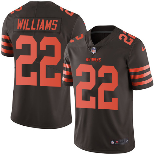 2016 Nike Cleveland Browns 22 Tramon Williams Brown Mens Stitched NFL Limited Rush Jersey
