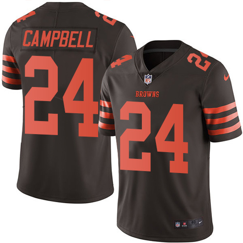2016 Nike Cleveland Browns 24 Ibraheim Campbell Brown Mens Stitched NFL Limited Rush Jersey