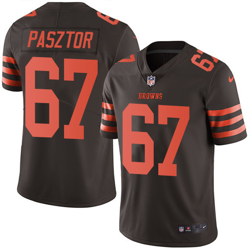 2016 Nike Cleveland Browns 67 Austin Pasztor Brown Mens Stitched NFL Limited Rush Jersey