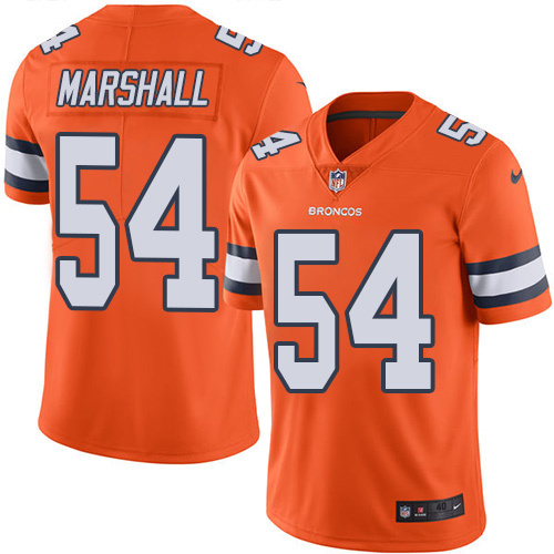 2016 Nike Denver Broncos 54 Brandon Marshall Orange Mens Stitched NFL Limited Rush Jersey